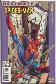 Ultimate Spider-man #8 Dynamic Forces Signed Remarked Art Thibert Sketch DF COA Ltd 199 Marvel comic